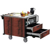 Lakeside 6755RM SuzyQ Red Maple Dining Room Meal Serving System with Two Heated Wells - 208V