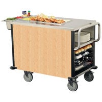Lakeside 6754HRM SuzyQ Hard Rock Maple Dining Room Meal Serving System with One Heated Well - 120V