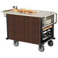 Lakeside 6754W SuzyQ Walnut Dining Room Meal Serving System with One Heated Well - 120V