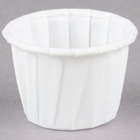 Solo 075 .75 oz. White Paper Souffle / Portion Cup - 250/Pack