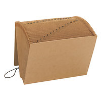 Smead 70168 Letter Size 31-Pocket Expanding File - 1-31 Indexed, Flap and Cord Closure, Redrope