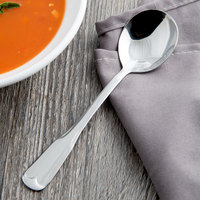 World Tableware 965 016 Columbus 6 1/4 inch 18/0 Stainless Steel Heavy Weight Bouillon Spoon - 36/Case