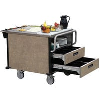 Lakeside 6755SM SuzyQ Sepia Mineral Dining Room Meal Serving System with Two Heated Wells - 208V