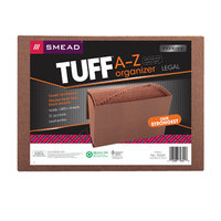 Smead 70320 TUFF Legal Size 21-Pocket Expanding File - A-Z Indexed, Flap and Cord Closure, Redrope