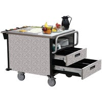 Lakeside 6755GS SuzyQ Gray Sand Dining Room Meal Serving System with Two Heated Wells - 208V