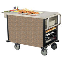 Lakeside 6754BSL SuzyQ Beige Slate Dining Room Meal Serving System with One Heated Well - 120V