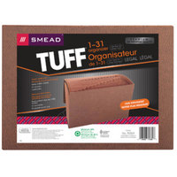 Smead 70369 TUFF Legal Size 31-Pocket Expanding File - 1-31 Indexed, Flap and Cord Closure, Redrope