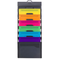 Smead 92060 33 inch x 14 1/4 inch Gray / Assorted Color Plastic Cascading Wall Organizer