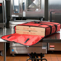 American Metalcraft PBDX2005 Standard Red Nylon Pizza Delivery Bag, 20 inch x 20 inch x 5 inch - Holds Up To (2) 18 inch Pizza Boxes