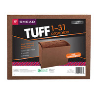 Smead 70467 TUFF Letter Size 31-Pocket Expanding File - 1-31 Indexed, Open Top, Redrope