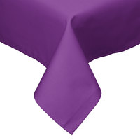 Intedge 54 inch x 54 inch Square Purple Hemmed Polyspun Cloth Table Cover