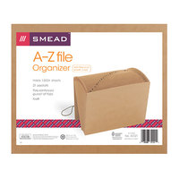Smead 70121 Letter Size 21-Pocket Expanding File - A-Z Indexed, Flap and Cord Closure, Kraft