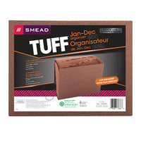 Smead 70388 TUFF Letter Size 12-Pocket Expanding File - January-December Indexed, Flap and Cord Closure, Redrope