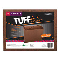Smead 70425 TUFF Letter Size 21-Pocket Expanding File - A-Z Indexed, Open Top, Redrope