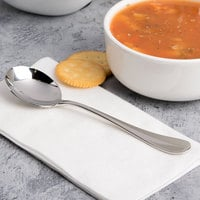 Chef & Sommelier T4909 Renzo 6 7/8 inch 18/10 Stainless Steel Extra Heavy Weight Soup Spoon by Arc Cardinal - 36/Case
