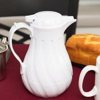 Choice 20 oz. White Swirl Thermal Coffee Carafe / Server