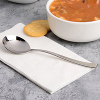 Arcoroc T3609 Latham 6 7/8 inch 18/10 Stainless Steel Extra Heavy Weight Soup Spoon by Arc Cardinal - 12/Case