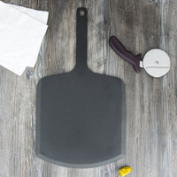 Epicurean 407-221202 Slate 12 inch x 22 inch Richlite Wood Fiber Commercial Pizza Peel with 9 inch Handle