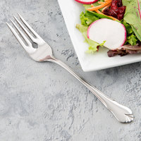 World Tableware 967 038 Diana 6 1/2 inch 18/0 Stainless Steel Heavy Weight Salad Fork - 36/Case