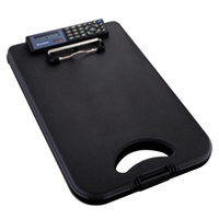 Saunders 00534 DeskMate II 1/2 inch Capacity 12 inch x 8 1/2 inch Black Storage Clipboard with Calculator