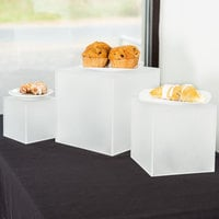 American Metalcraft AC579 Set of Three Frosted Acrylic Cube Risers
