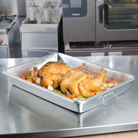 Vollrath 68358 Wear-Ever 23.5 Qt. Aluminum Baking and Roasting Pan with Handles - 25 3/4 inch x 17 3/4 inch x 3 9/16 inch