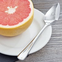Choice Windsor 6 1/4 inch 18/0 Stainless Steel Grapefruit Spoon - 12/Case