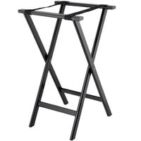 Lancaster Table & Seating 17 3/4 inch x 15 3/4 inch x 32 inch Black Folding Wood Tray Stand