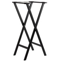 Lancaster Table & Seating 17 3/4 inch x 15 3/4 inch x 38 inch Black Folding Wood Tray Stand
