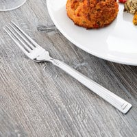World Tableware 977 027 Slate 8 1/8 inch 18/0 Stainless Steel Heavy Weight Dinner Fork - 36/Case