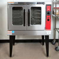 Vulcan VC5GDN Natural Gas Single Deck Full Size Convection Oven with Legs - 50,000 BTU