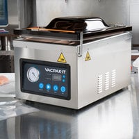 VacPak-It VMC10DPU Chamber Vacuum Packaging Machine with 10 1/4 inch Seal Bar and Dry Pump