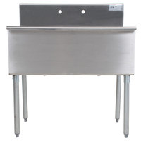 Advance Tabco 6-2-36 Two Compartment Stainless Steel Commercial Sink - 36 inch