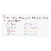 Paper Mate 1945932 InkJoy 100 Assorted Ink with Assorted Barrel Colors 1mm Ballpoint Stick Pen - 8/Pack