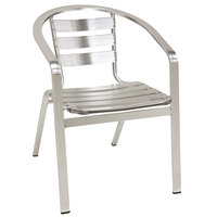 American Tables & Seating 55 Aluminum Chair with Slat Back and Seat