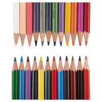 Prismacolor 20517 Col-Erase 24 Assorted Woodcase Barrel 0.7 mm Colored Pencil with Eraser