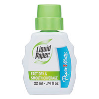Paper Mate 5640115 Liquid Paper Fast Dry Correction Fluid - 12/Pack