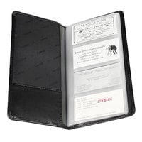 Samsill 81240 Regal 4 3/4 inch x 10 inch Black Leather Business Card Holder - 96 Card Capacity