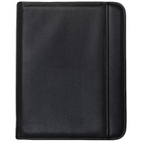 Samsill 70820 10 3/4 inch x 13 1/8 inch Black Zippered Leather-Like Pad Holder