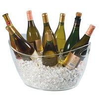 Franmara 9080 17 Qt. Colossus Customizable 8-Bottle Clear Acrylic Oval Wine Bucket