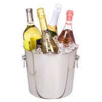 Franmara 9290 Ideal Quattro 8.75 Qt. Customizable Stainless Steel Wine and Champagne Chiller