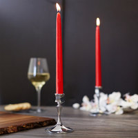 Sterno 40304 10 inch Red 10 Hour Taper Candle - 144/Case