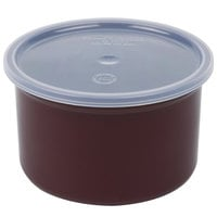 Carlisle 034301 Brown 1.5 Qt. Poly-Tuf Round Crock with Lid