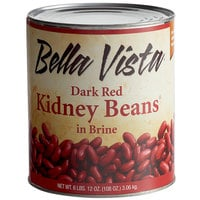 Bella Vista #10 Can Dark Red Kidney Beans in Brine - 6/Case
