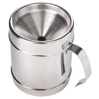 Franmara 9277 Customizable 30 oz. Polished Stainless Steel Continental Style Wine Tasting Personal Spittoon