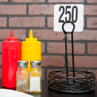 American Metalcraft 4250 Plastic Table Number Set - Numbers 201 - 250