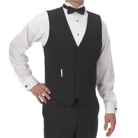 Henry Segal Men's Customizable Black Basic Server Vest - 4XL