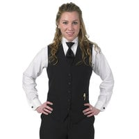 Henry Segal Women's Customizable Black Extended Length Basic Server Vest - 5XL