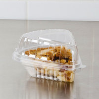 Dart Clearseal 5 inch Hinged Clear Slice Container - 250/Case