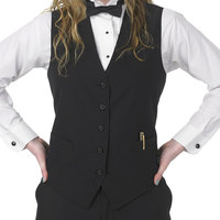 Henry Segal Women's Customizable Black Extended Length Basic Server Vest - 4XL